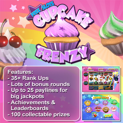 Free slots Cupcake Frenzy - for ipad, iphone, android.