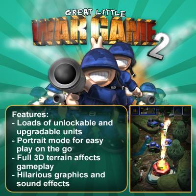 Great Little War Game 2 - for ipad, iphone, android, Kindle.
