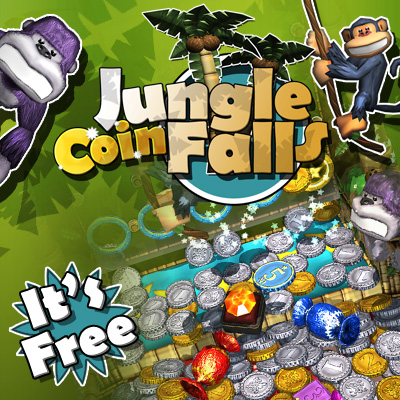 Jungle Coin Falls - for ipad, iphone, android.